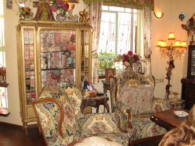 Romantic Victorian Home Decor Sinfon 237 A En Rojo