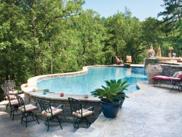 Effektvolle Poolgestaltung im Garten   Idées jardin, Maisons ...