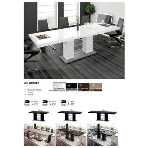 803ca83762a30 Luxusný rozkladací jedálenský stôl LINOSA 2 biela vysoký lesk DOPRAVA  ZADARMO