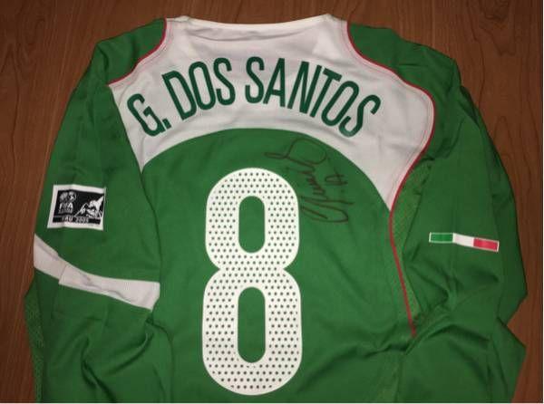 選手支給 直筆サイン #8 FCバルセロナ メキシコ代表 U-17 FIFA WORLD championship PERU 2005 ジョバニ・ドス・サントス 選手_画像2