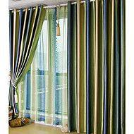 (dos paneles) hermosa cortina de oscurecimiento sala de gradientes de color