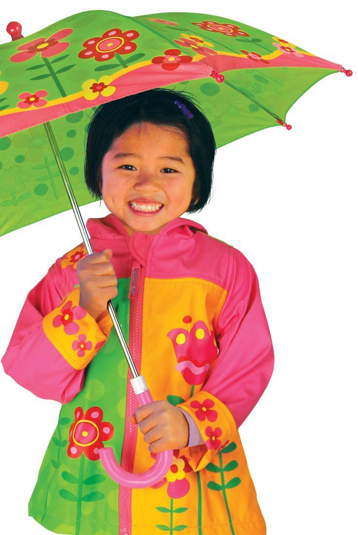 Kolorowy zestaw #dla_dzieci Flower, Stephen Joseph to idealna ochrona przed deszczem.