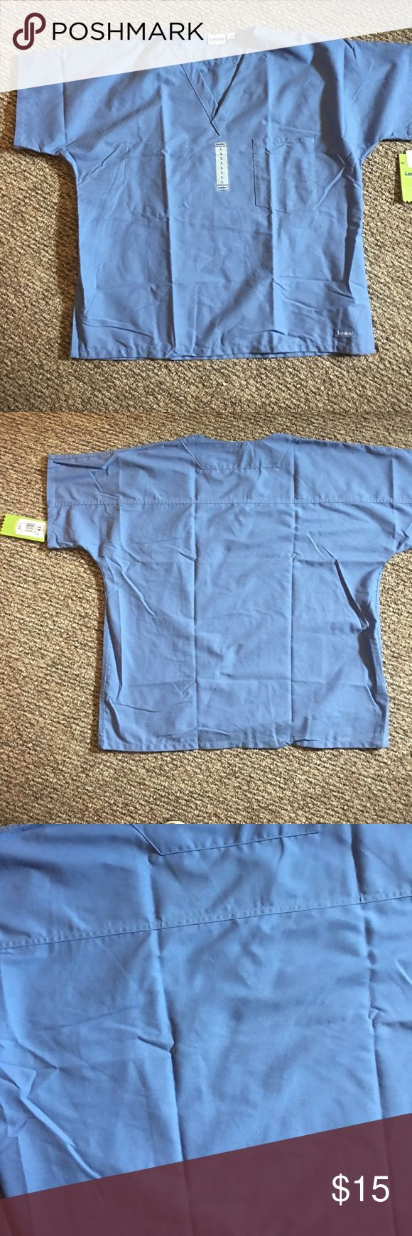 Landau Scrub Top Large NWT Ceil Blue Perfect Landau Scrub Top Large NWT Ceil Blue Perfect Top has Chest Pocket and is Reversible Offers Welcome Landau Tops