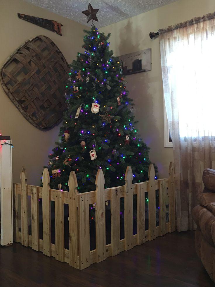 Fence For Christmas Tree Christmas Christmas Tree