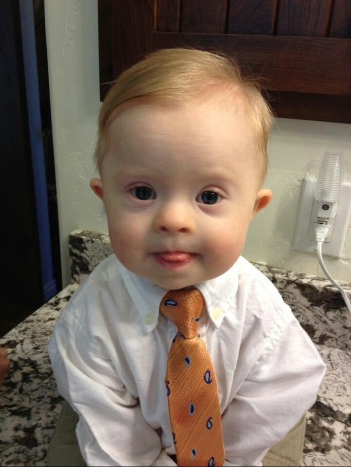 Oh, this little boy has my heart! So dapper and sweet. ♥ Down syndrome awareness