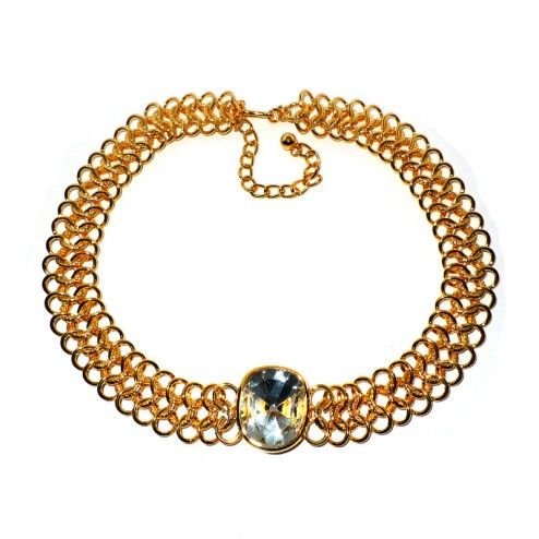 Kenneth Jay Lane Crystal Stone Necklace