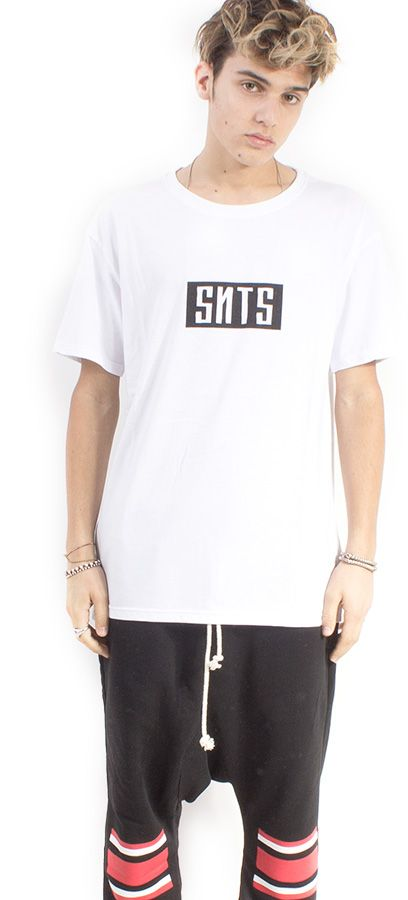 LONG TEE UNISEX BIANCO ST. SNTS SMALL #lasaints #snts #dope #streetwear #tshirt #madeinitaly #fashion #tomaslanza #style #losangeles