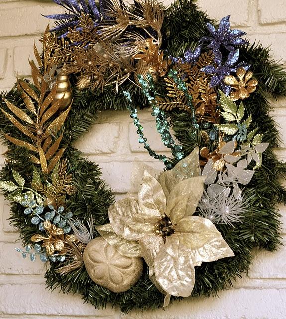 Ocean-themed wreath