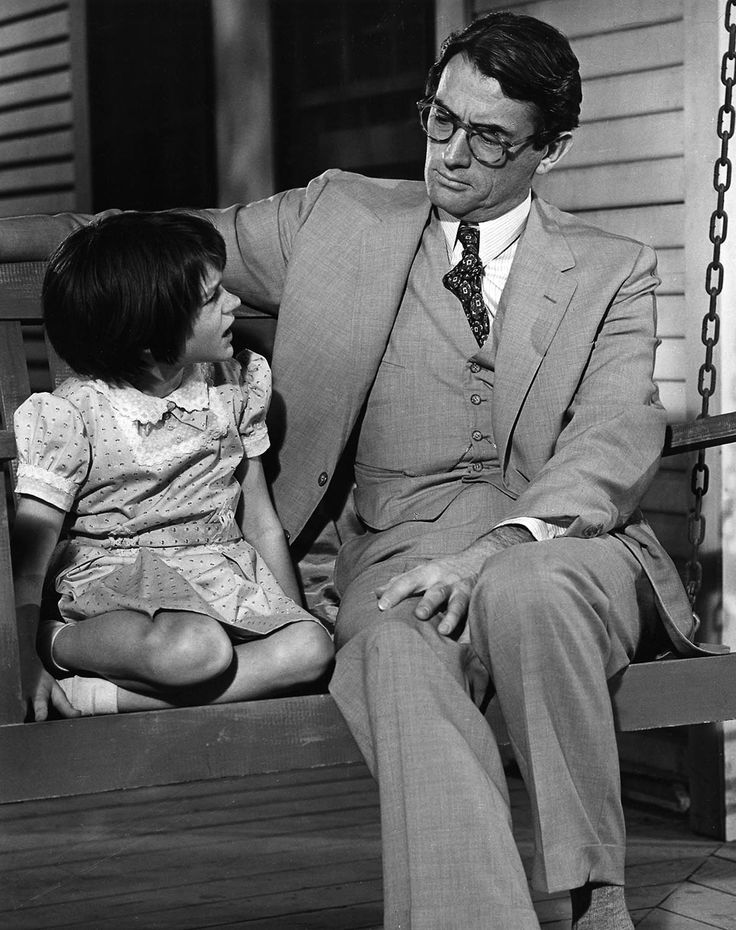 Gregory Peck and Mary Badham in a publicity still from TO KILL A MOCKINGBIRD (1962)