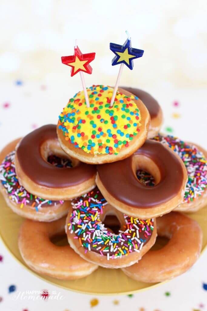 17 Best Ideas About Donut Birthday Cakes On Pinterest
