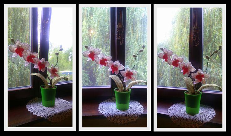Horgolt Orchidea...:)  Minta: https://www.loremar.co.uk/blog/orchid-flower-lisa-lisa-0
