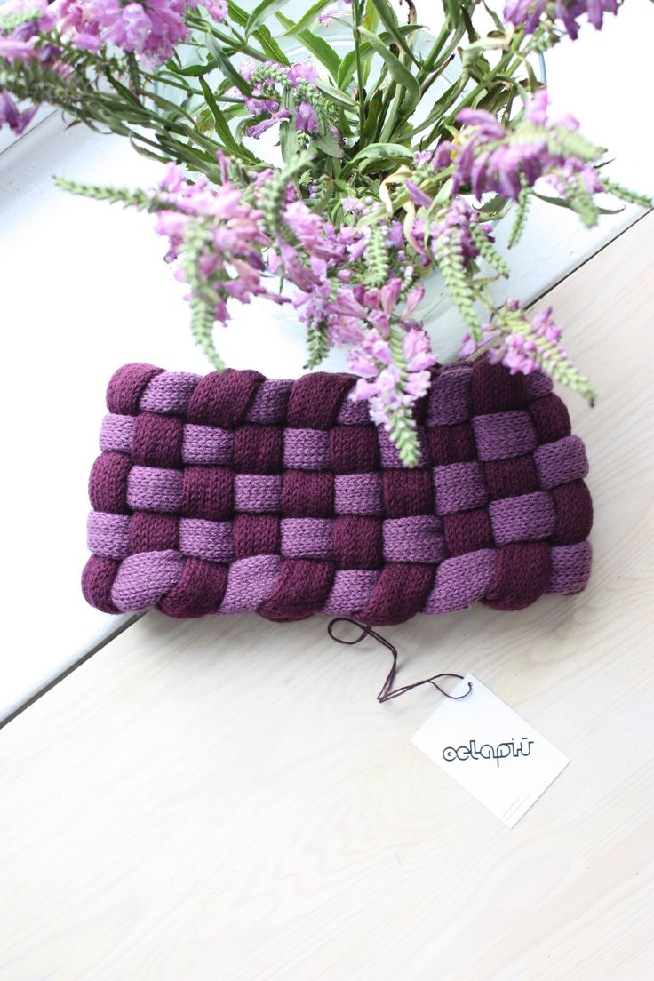 For a good start of the week: a very special Woven Cowl in 2 shades of purple for $49. Only one piece available! Message us if you are interested.  To see how the Woven Cowl looks when worn follow this link: http://etsy.me/Z3ufD8