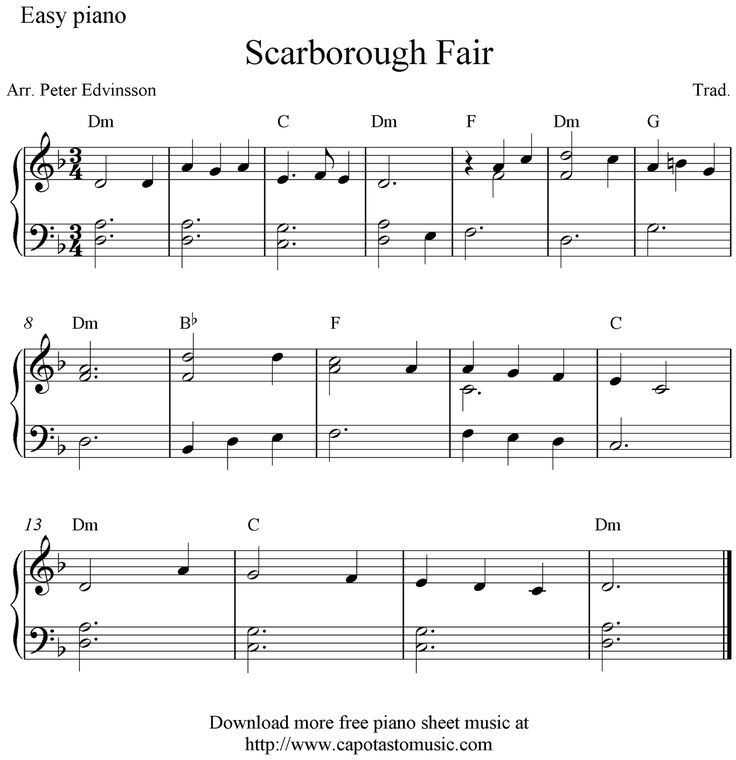 Free Sheet Music Scores: Piano