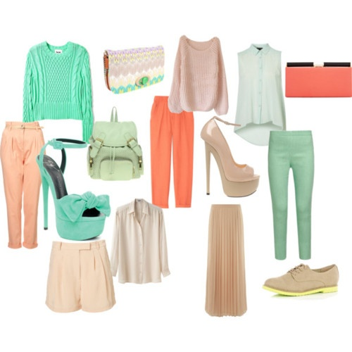 the colors of spring fashion!