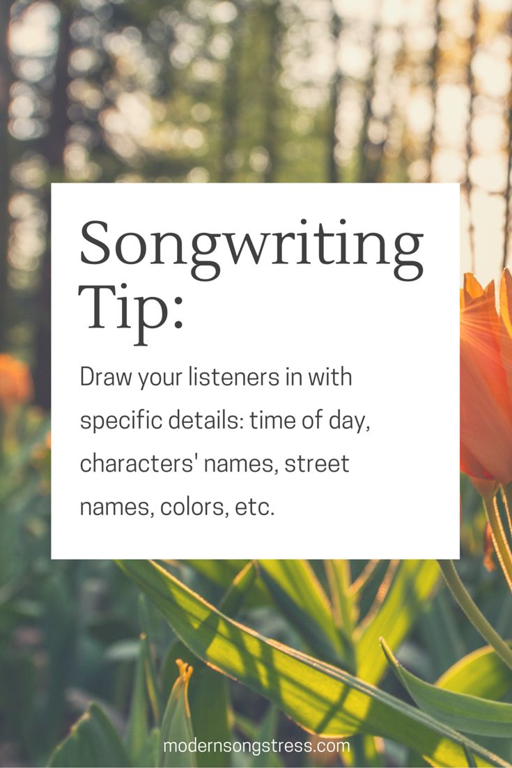 Songwriting Tip | Modern Songstress