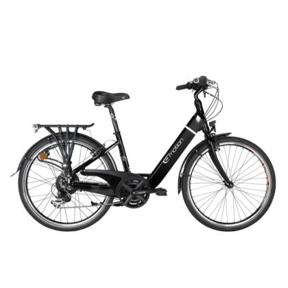 The Easy Motion Evo Eco Lite Electric Bike  is an excellent electric bike for city dwellers & suburbanites looking for a transportation alternative. It has the power, tires, design, and accessories needed for commuting to work, running errands, or mild trails.