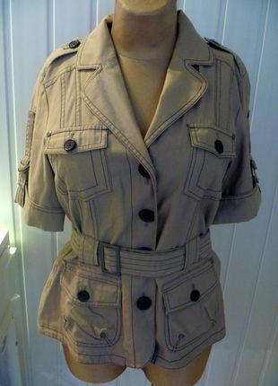Kup mój przedmiot na #vintedpl http://www.vinted.pl/damska-odziez/marynarki-zakiety-blezery/10394914-bezowy-zakiet-z-krotkim-rekawem