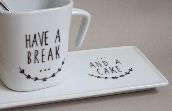 idee cadeau maitresse service à café, tisane, porcelaine peinte