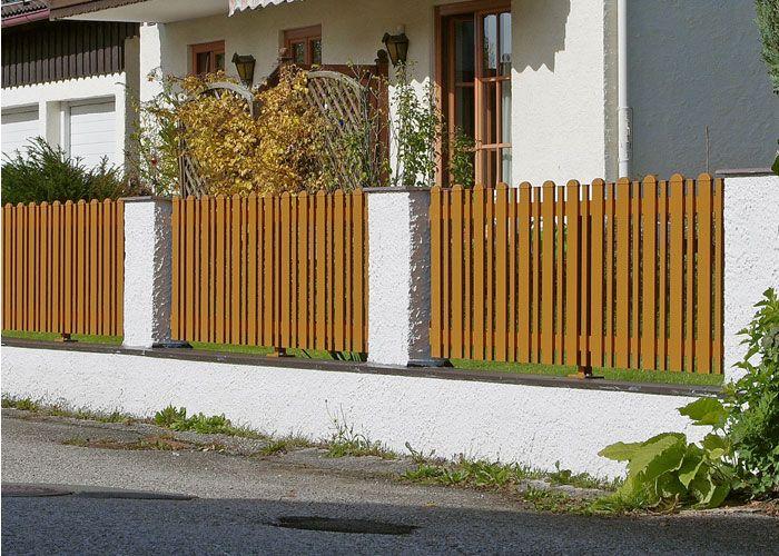 Alu gartenzaun free fr system zune mit system wpc und - Wpc zaun polen ...