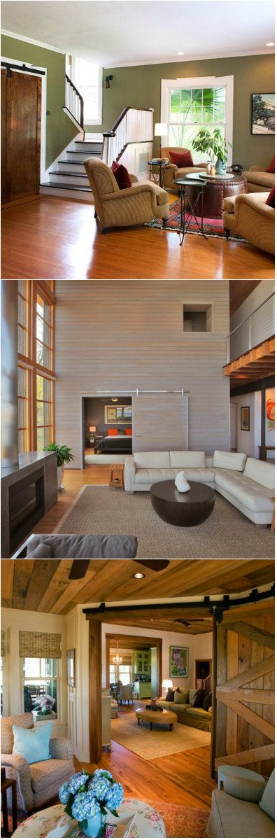 20 Lovely Wooden Sliding Doors in the Living Room Hesitant to use wooden sliding doors? Don't be! Here are ideas for you!     Whether you are thinking about putting up a regular door or a sliding door in your living room, materials that you want to use should be closely considered....