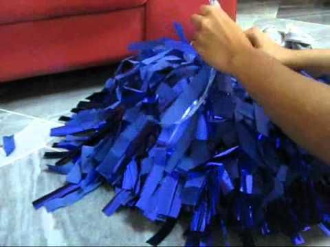 How to make cheer poms. Not sure if this is cheaper than the ones we can purchase, but worth looking into.