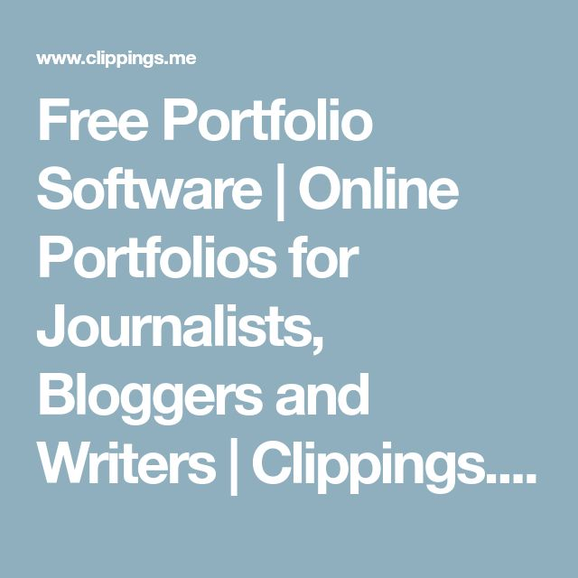 Free Portfolio Software | Online Portfolios for Journalists, Bloggers and Writers | Clippings.me