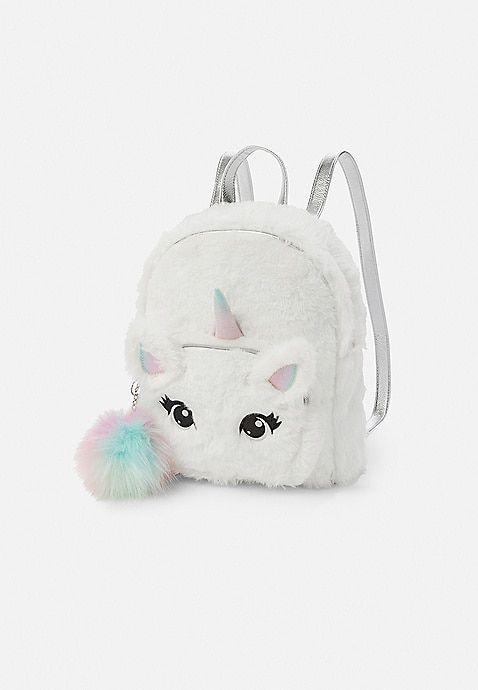 d840cd9609 Unicorn Faux Fur Mini Backpack
