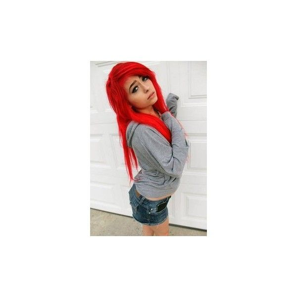Scene Hair Scene hair and hair ❤ liked on Polyvore featuring hair, girls, people, hair/people and pictures