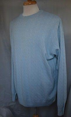 I LEVRIERI XXL 50% Cashmere 50% Silk 2XL Sweater Made in Italy Blue ilevrieri