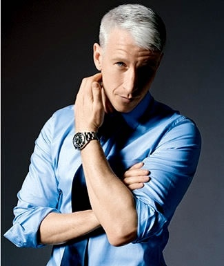 Anderson Cooper, Luv, he'll sit beside me, tell me all about his great travels, journalism  we'll have lots of laughs
