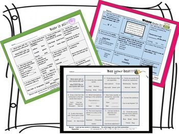 NWea Map Grade 1- Review Key Reading Concepts & Vocabulary so your students are prepared to demonstrate all their growth!! 30 Skill packed sheets of Practice - use it, don't lose it!