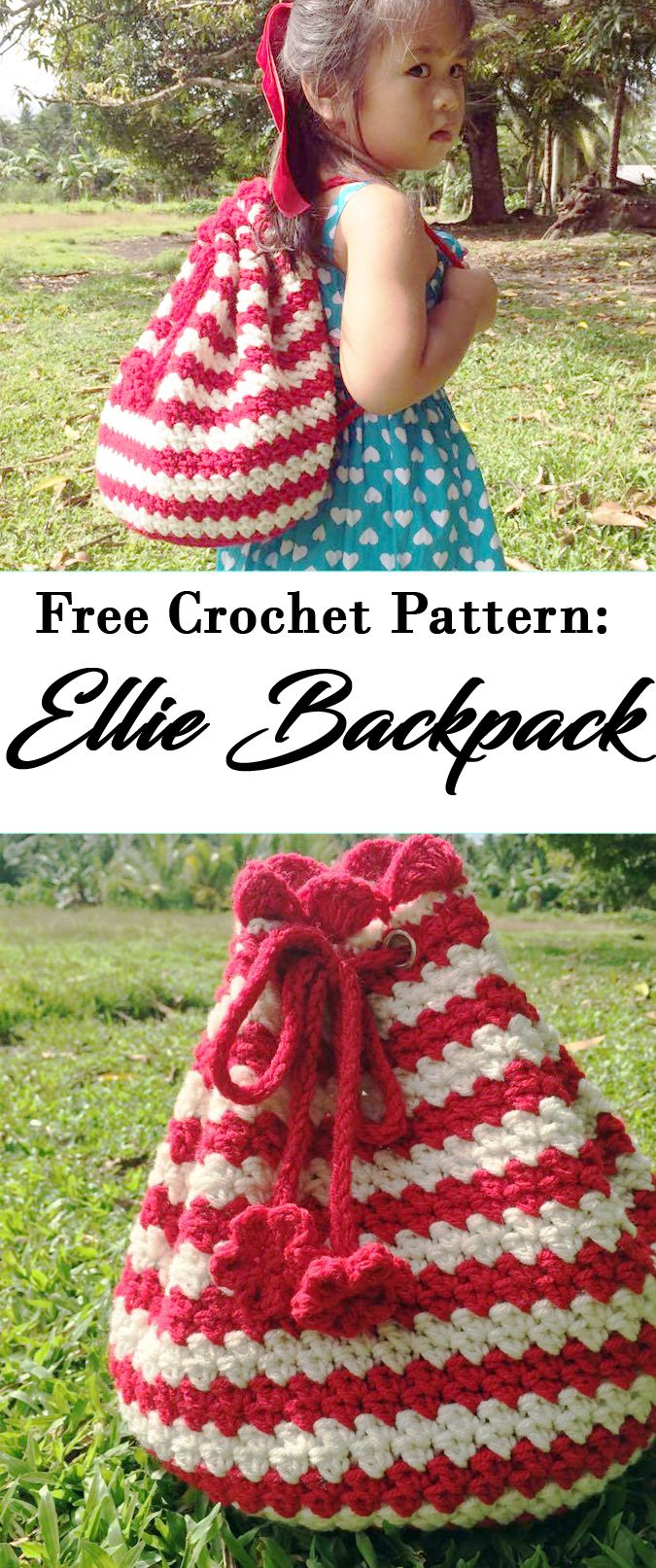 THE ELLIE BACKPACK It's actually so easy to make. The stitches are not that complicated. I hope you will try and love this pattern. If you have any questions or inquiries about this pattern feel free to contact me.