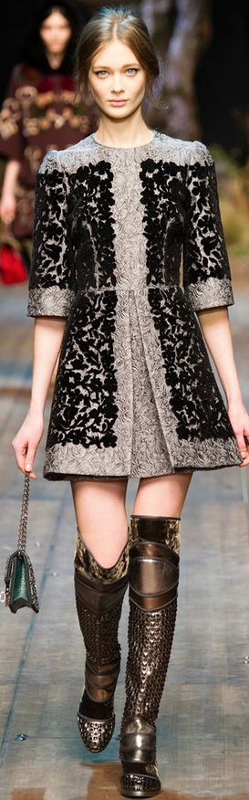 Dolce & Gabbana Fall 2014 Ready-to-Wear Fashion Show - diggin these plate boots