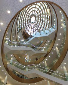 Liverpool Central Library's been refurbished - and now has this great staircase.