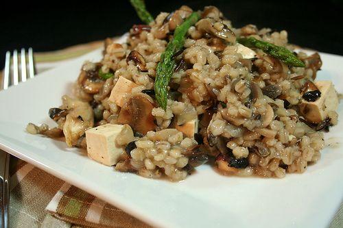 Creamy Mushroom Hazelnut Barley Risotto