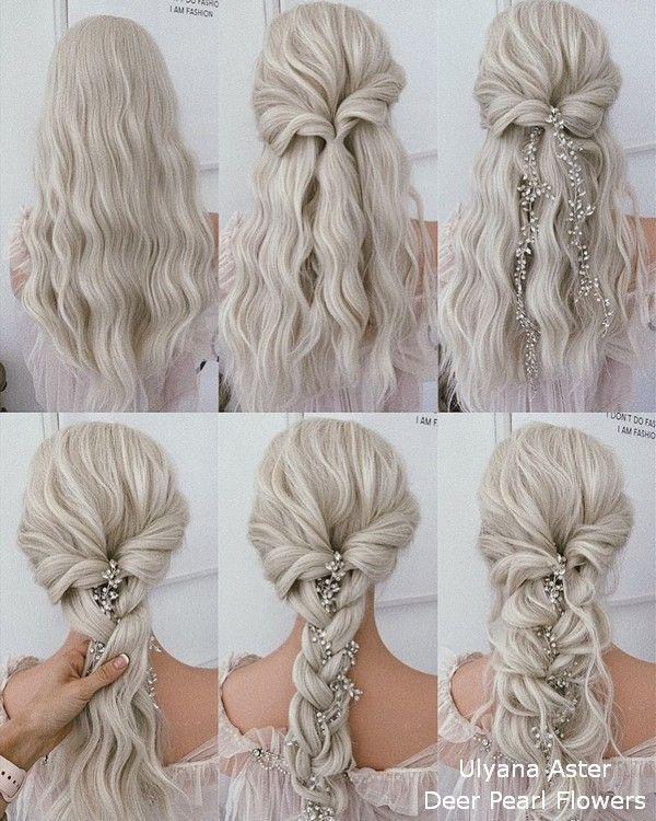 18 Tutoriels de coiffures de mariage pour les mariées et les demoiselles d'honneur Hair Z # Hair …   – Hair♀️
