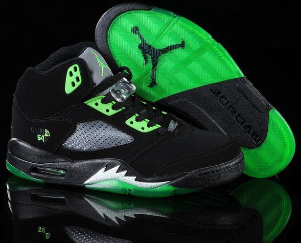 Mens Air Jordan 5 V) Retro Premio Shoe Black White shoes
