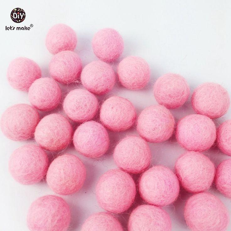Купить товарШерсть шар розовый цвет бисер 30 ШТ. детские живые аксессуары кормящих браслет кулон Ребенка схватив игрушки сенсорные DIY ребенок чувствовал мяч в категории Бусинына AliExpress.