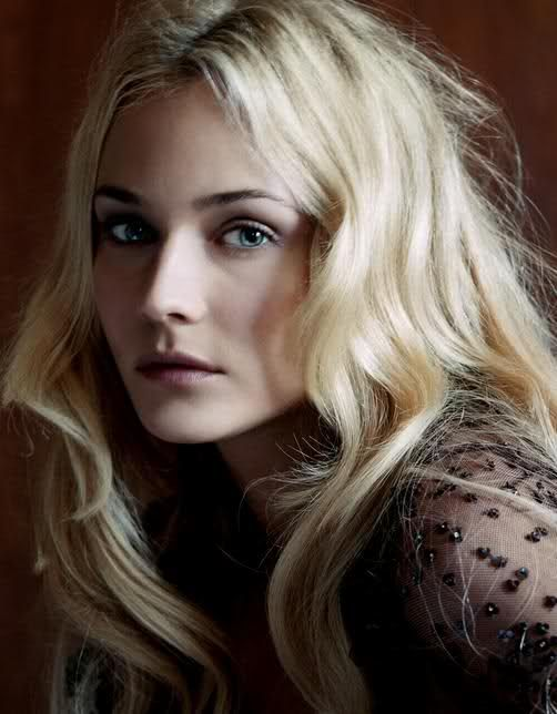 Diane Kruger - there's certain coolness in her, all the time... certain perfect quality...