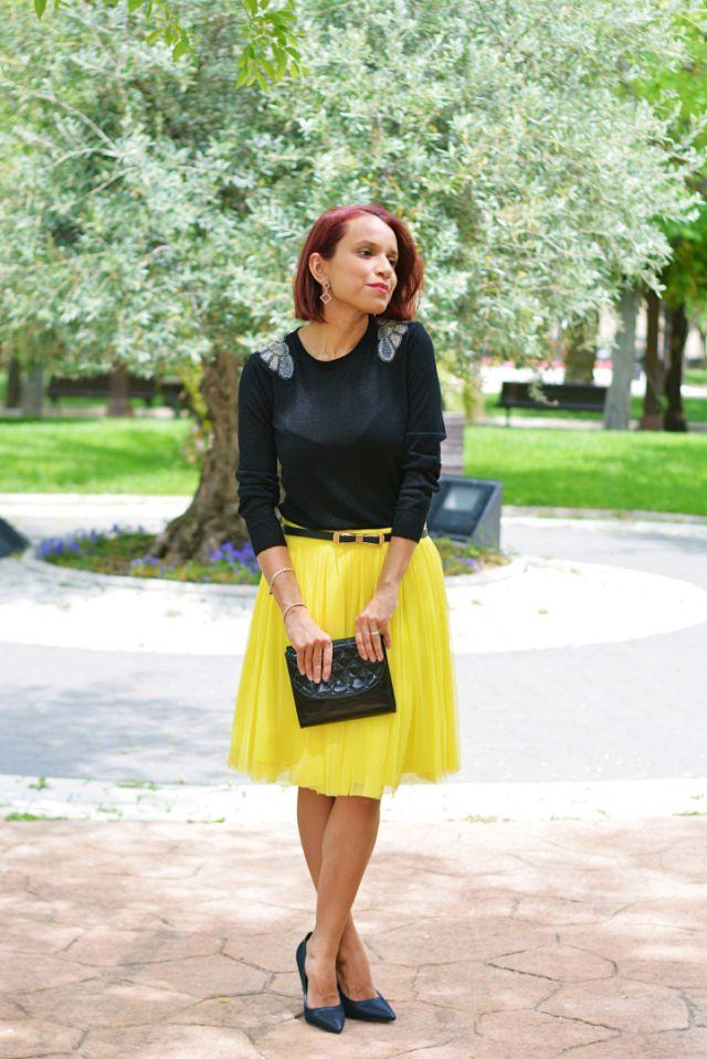 mitad de descuento extremadamente único Venta de descuento 2019 Cómo combinar una falda amarilla | Estilos | Faldas ...