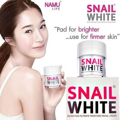 [S$38.50]AUTHENTIC 50G SNAIL WHITE SNAIL SECRETION FILTRATE MOISTURE FACIAL CREAM BY NAMU LIFE