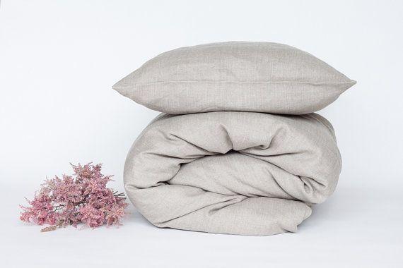 Eco linen duver cover, queen size duvet cover, king size duvet cover, custom size.