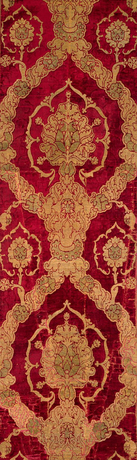 Length of brocaded velvet, late 15th century  Italian (Venice)  Silk velvet brocaded with metal-wrapped threadSilk Velvet, Brocade Velvet, Italian Venice, Century Italian, Late 15Th, Velvet Brocade, Art History, 15Th Century, Metropolitan Museums