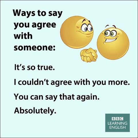 Ways to say agree with someone