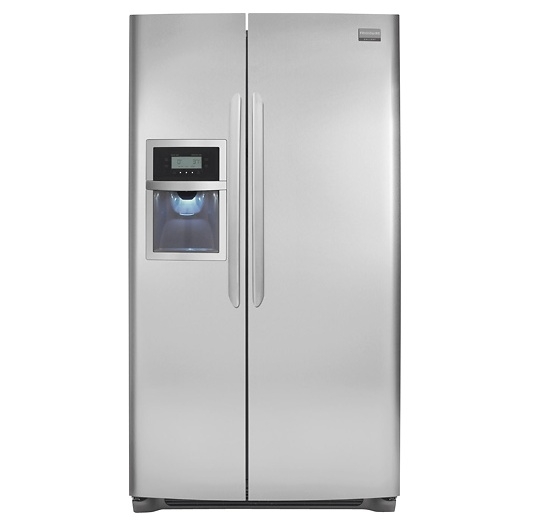Frigidaire 22.6 Cu. Ft. Counter-Depth Side-by-Side Refrigerator Stainless-Steel for $1,399 #kitchen