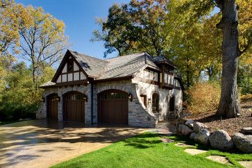 Timeless Tudor Estate - traditional - garage and shed - minneapolis - by Bruce Kading Interior Design
