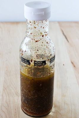 Shake-in-a-Jar Mediterranean Salad Dressing Recipe with Red Wine Vinegar, Lemon, and Sumac from Kalyn's Kitchen  (My new favorite dressing for all types of greens!)