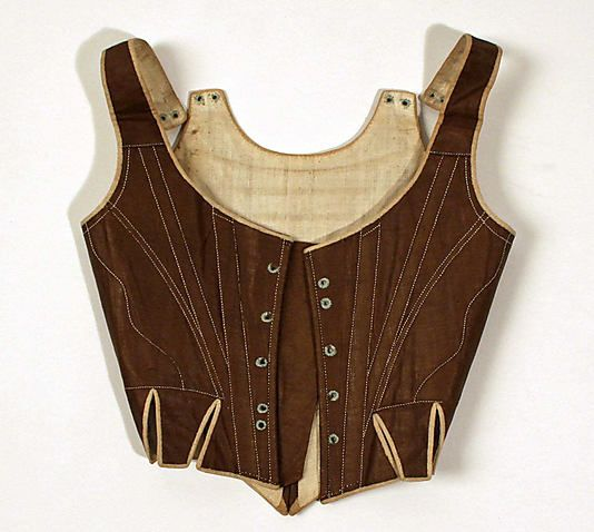 Corset Date: 1780s–90s Culture: European Medium: cotton, wood