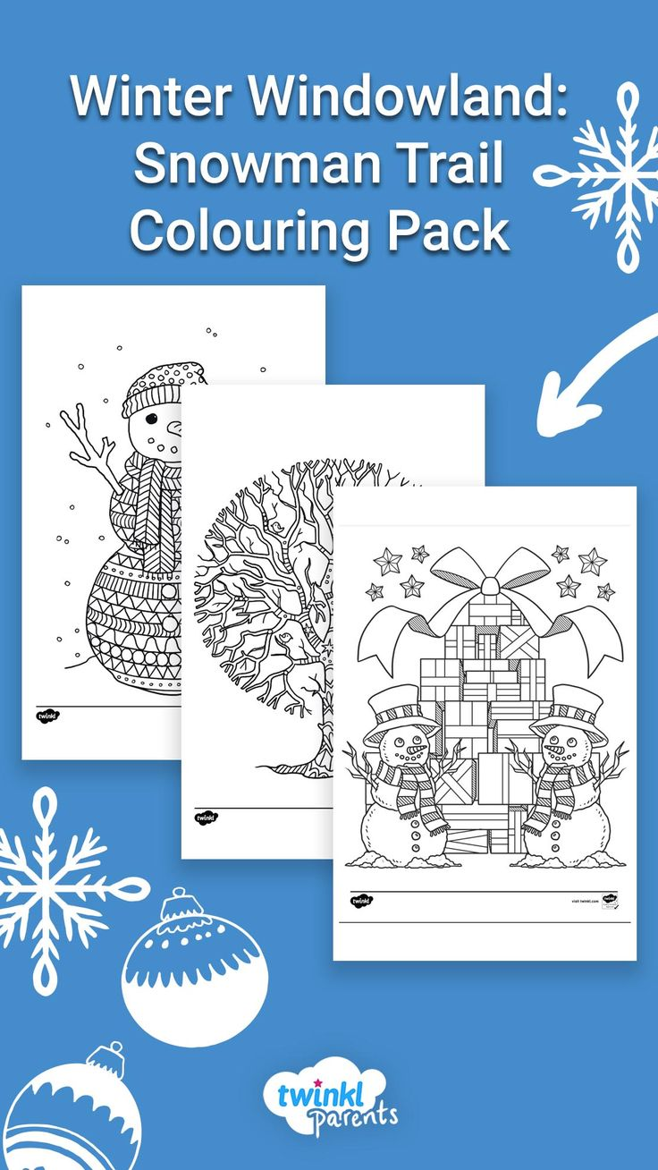 Winter Windowland Snowman Trail Colouring Pack In 2020 Winter Window Christmas Activities Family Fun