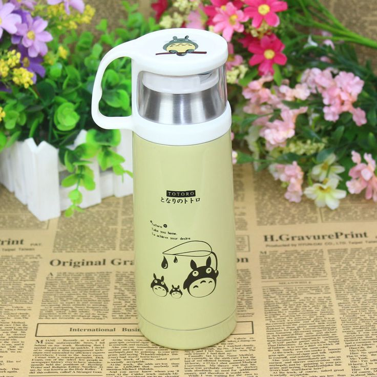 Cheap kettle bottle, Buy Quality cup display directly from China cups breast Suppliers: Wholesale water bottle Anime Collection Hayao Miyazaki Totoro vacuum cup stainless steel Kettle 350ml